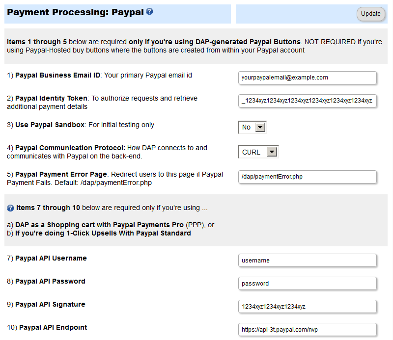 Paypal Website Payments Pro Integration – DAP Documentation