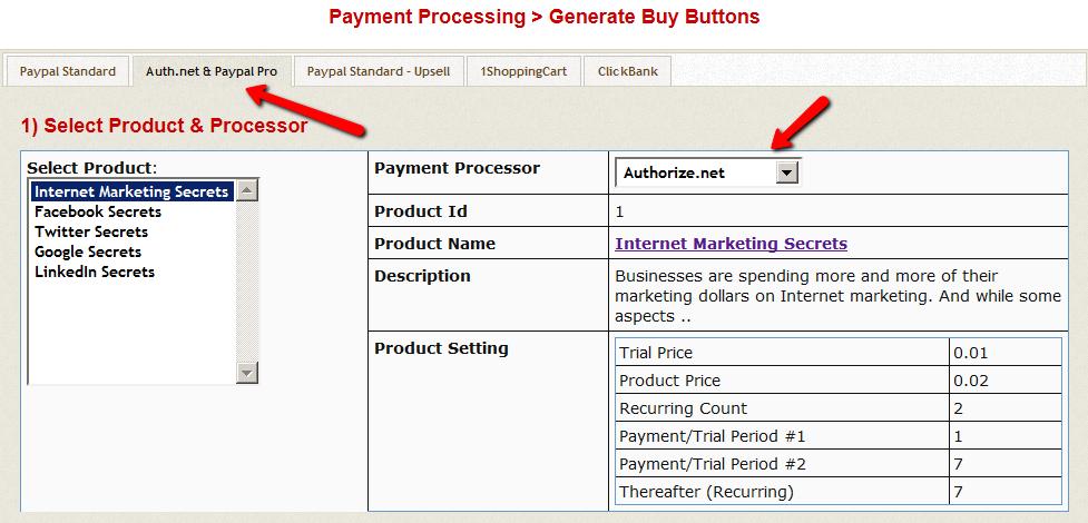 GenerateButton-SelectProcessor