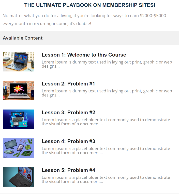 Key Features: lms